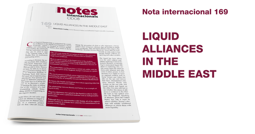 Liquid alliances in the Middle East