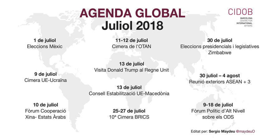 Agenda global Juliol 2018