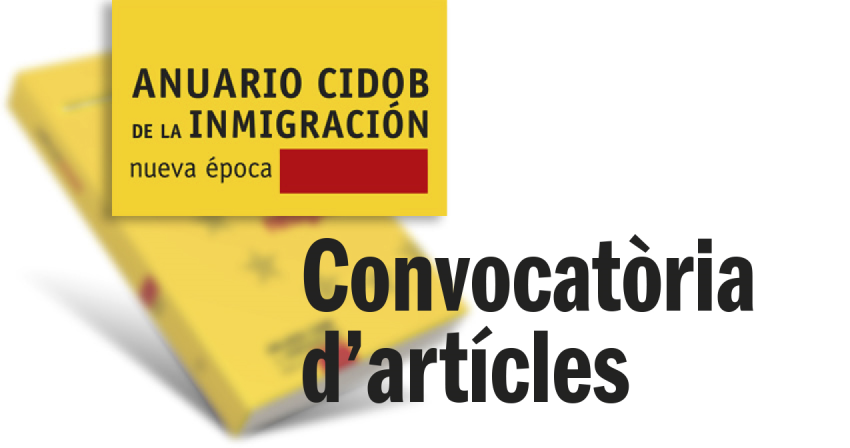 Call for papers Anuario CIDOB de la Inmigración
