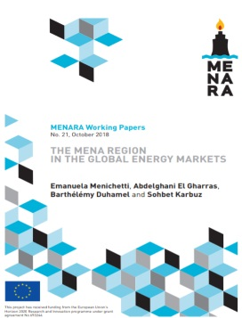 The MENA region in the global energy markets