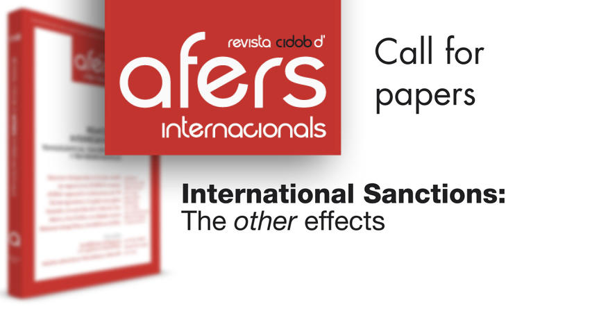 call for papers nº. 125. International Sanctions: The 'other' effects""