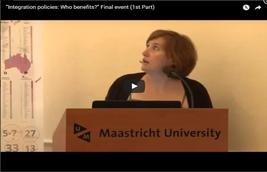 """Integration policies: Who benefits?"" Final event (1st Part)"