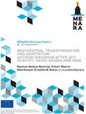 Restoration, Transformation and Adaptation: Authoritarianism after 2011 in Egypt, Saudi Arabia and Iran