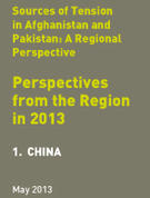 Sources of Tension in Afghanistan & Pakistan:  perspectives from the Region in  2013: 1. China