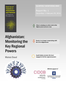 Afghanistan: Monitoring the Key Regional Powers. Report 1