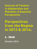 Sources of Tension in Afghanistan & Pakistan: Perspectives from the Region in 2013 & 2014: 6. Iran